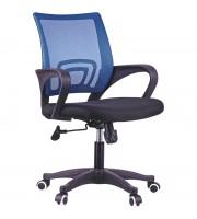 Кресло оператора OfficeSpace SP-M96, ткань, спинка сетка синяя/сиденье TW черная, механизм качания