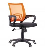 Кресло оператора OfficeSpace SP-M96, ткань, спинка сетка оранж/сиденье TW черная, механизм качания
