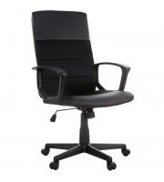"""Кресло руководителя Helmi HL-E26 """"Segment"""", экокожа/ткань черная"""