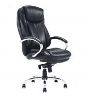 """Кресло руководителя Helmi HL-ES07, """"Resolution"""" повыш. прочн., экокожа черн, мультибл, хром,до 150кг"""