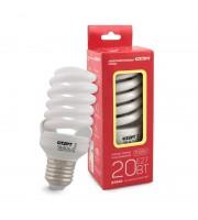 Лампа энергосберегающая Старт Экономь 20 Вт цоколь E27 спираль (теплый белый свет)