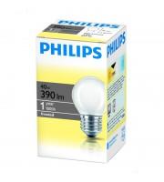 Лампа накаливания Philips 40 Вт цоколь E27 (теплый свет)