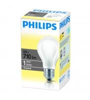 Лампа накаливания Philips 60 Вт цоколь E27 матовая (теплый свет)