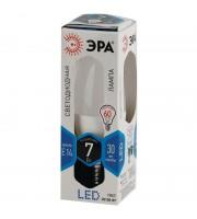 Лампа светодиодная LED Эра 7 Вт цоколь E14 свеча (нейтральный белый свет)