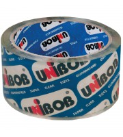 Клейкая лента упаковочная Unibob, 48мм*50м, 45мкм, крист. чистая ИУ