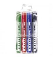 Набор маркеров для досок, круглый наконечник, 4цв.