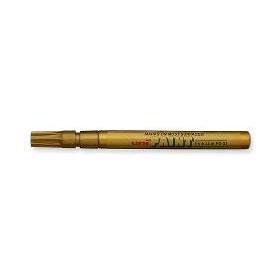 Маркер пеинт (лак) UNI PX-21 0.8-1.2мм, мет. корп., золото