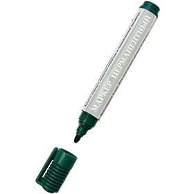 Маркер перманент складской 2-3мм круглый наконечник, зеленый