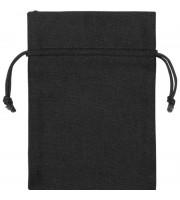 Мешочек подарочный US Basic Лен средний черный (13 х 18 см)