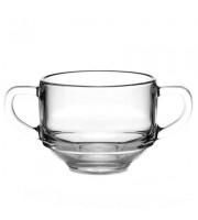 Супница-кружка Pasabahce Шефс стеклянная прозрачная 480 мл (артикул производителя 53772SLBT)