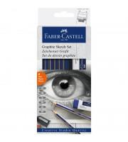 "Набор карандашей ч/г Faber-Castell ""Goldfaber"", 6шт.+ластик+точилка, 2H-6B, заточен., карт. уп., евр"