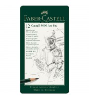 """Набор карандашей ч/г Faber-Castell """"Castell 9000 Art Set"""", 12шт., 2H-8B, заточен., метал. кор."""