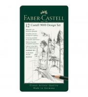 """Набор карандашей ч/г Faber-Castell """"Castell 9000 Design Set"""", 12шт., 5H-5B, заточен., метал. кор."""
