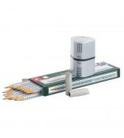 "Набор карандашей ч/г Faber-Castell ""Grip 2001"", 12шт.+2 ластика+точилки, заточен., карт. уп."