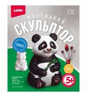 """Набор для изготовления игрушки из гипса Lori """"Маленький скульптор. Панда"""", картонная коробка"""