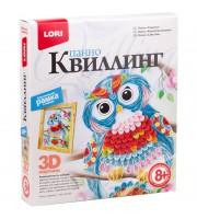 "Квиллинг-панно Lori 3D ""Совушка"", с рамкой, картонная коробка"