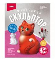"""Набор для изготовления игрушки из гипса Lori """"Маленький скульптор. Кошечка"""", картонная коробка"""