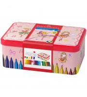 """Набор для рисования Faber-Castell """"Connector Ballerina"""" 33 фломастера+10 клипс+2 карты для раскраш."""