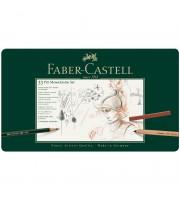 """Набор художественных изделий Faber-Castell """"Pitt Monochrome"""", 33 предмета, метал. кор."""