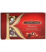 Шоколадные конфеты А.Коркунов ассорти темного и молочного шоколада 192 г