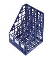 Лоток для бумаг вертикальный Стамм, сборный, 3 отделения, темно-синий