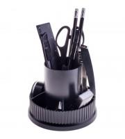 """Настольный органайзер OfficeSpace """"Карусель"""", 12 предметов, вращающийся, черный"""