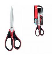 Ножницы 210мм MAPED Advanced Gel, асимметричные с резин. вставкой ручки, черно-красный