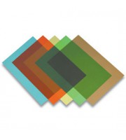 Обложка для переплета А4, 200мкм, 100 шт, прозр. синий