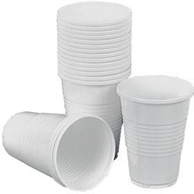 Стакан 200мл для горячих напитков, пластик, 100шт., белый