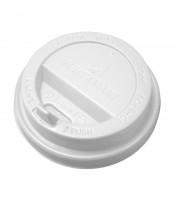 Крышка для стакана Huhtamaki пластиковая белая 90 мм с клапаном 100 штук в упаковке