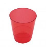 Стакан одноразовый пластиковый красный 200 мл 50 штук в упаковке