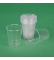 Стакан одноразовый бюджет пластиковый прозрачный 300 мл 50 штук в упаковке