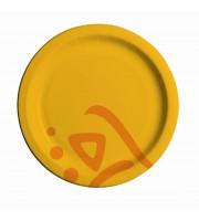 Тарелка одноразовая Huhtamaki Whizz бумажная разноцветная 230 мм 50 штук в упаковке