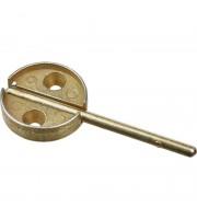 Плашка дюралевая с флажком диаметр 29 мм