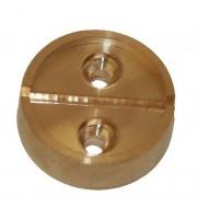 Плашка латунная на 1 печать диаметр 29 мм (2 штуки в упаковке)