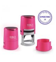 Оснастка для круглой печати COLOP, d=40мм, крышка, розовый неон