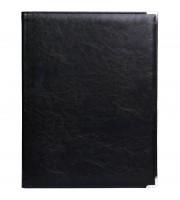 Папка адресная OfficeSpace, А4, кожзам, мет. уголки, черный