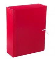 Папка архивная с жесткими клапанами OfficeSpace, покрытие БВ, с 4 завязками, ширина корешка 80мм