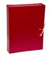 Папка архивная с жесткими клапанами OfficeSpace, покрытие БВ, с 4 завязками, ширина корешка 50мм