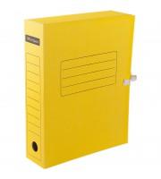 Папка архивная с завязками OfficeSpace, микрогофрокартон, 75мм, желтый, до 700л.