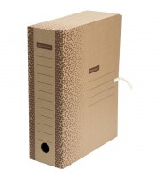 "Папка архивная с завязками OfficeSpace ""Standard"" плотная, микрогофрокартон, 100мм, бурый, 900л."