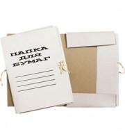 Папка с завязками 440г/м2 мелован. картон, белый