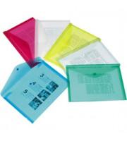 Папка-конверт на кнопке А4, 180мкр, прозрачный