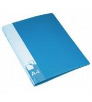 Папка 2 кольца А4 35/42мм, пластик, 0,7мм, синий