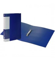 Папка 2 кольца А4 17/27мм, пластик, 0,7мм, синий