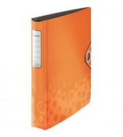 Папка 4 кольца А4 52мм LEITZ Bebop с механ. Soft Click, оранжевый