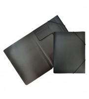 Папка с угловыми резинками А4, 0,5мм, черный