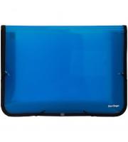 Папка на резинке Berlingo, А4, с тканевой окантовкой, 600мкм, синяя