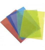 Папка-уголок А4 180мкр жест.пластик желтый прозр.