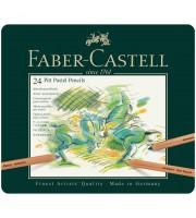 "Пастельные карандаши Faber-Castell ""Pitt Pastel"" 24цв., метал. коробка"